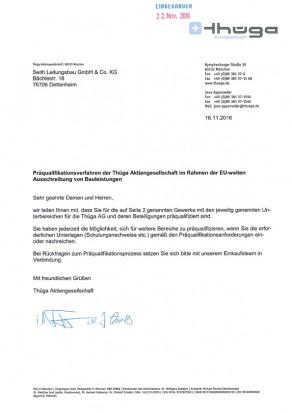 Präqualifikation der Thüga für Netzbau und Tiefbau, Seith Leitungsbau GmbH & Co.KG